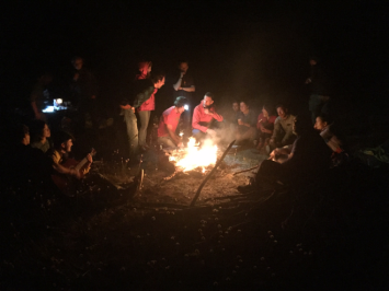 Bonfire/barbecue/singalong at the top of Montevirgine